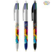 BIC® 4 Colours Pen with Lanyard Kugelschreiber
