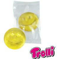 "1-er Fruchtgummi  ""Smiley"" in neutraler Folie"