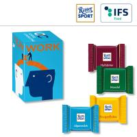 Mini Promo-Tower mit Ritter Sport QUADRETTIES - 1-farbig