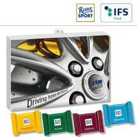 Premium Präsent-Adventskalender BUSINESS mit Ritter Sport QUADRETTIES - 4-farbig