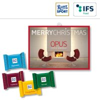 Wunsch-Adventskalender BUSINESS mit Ritter Sport QUADRETTIES - 4-farbig