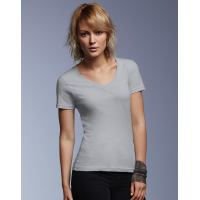 Ladies Sheer V-Neck Tee