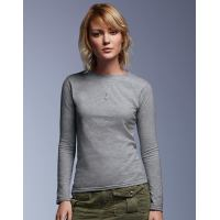 Womens Fashion Basic Langarm Tee