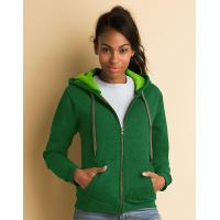 Ladies Vintage Full Zip Hooded Sweat