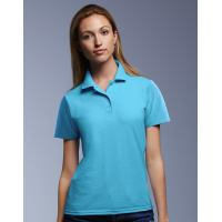 Womens Double Pique Polo