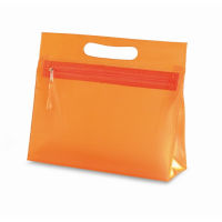 Transparente Kosmetiktasche MOONLIGHT - orange