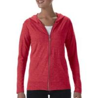 Womens Tri-Blend Full Zip Hooded Jacket