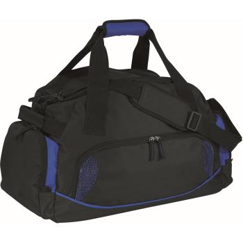 b03fba6d63f3a Sporttasche DOME - schwarz - blau bei werbeartikel-discount.com