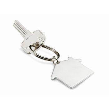 Schlüsselring Haus Heim Silber Matt Bei Werbeartikel Discountcom