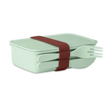 Pp Lunch Box Mit Bambus Fasern Astoriabox Grun Bei Werbeartikel