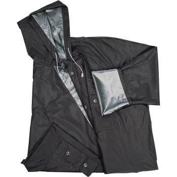 wende regenjacke nanterre schwarz silber bei werbeartikel. Black Bedroom Furniture Sets. Home Design Ideas