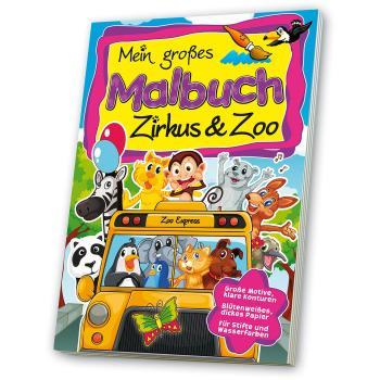 Malbuch Zirkus & Zoo bei werbeartikel-discount.com