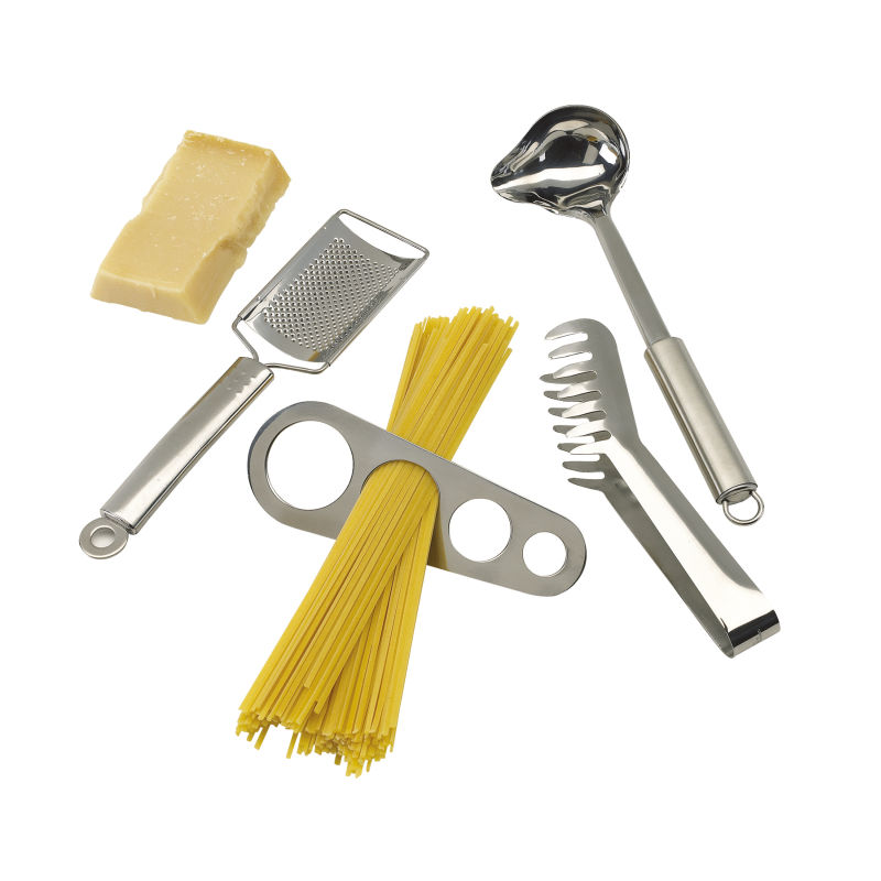 Spaghetti set al dente silber bei werbeartikel for Utensilios y accesorios de cocina