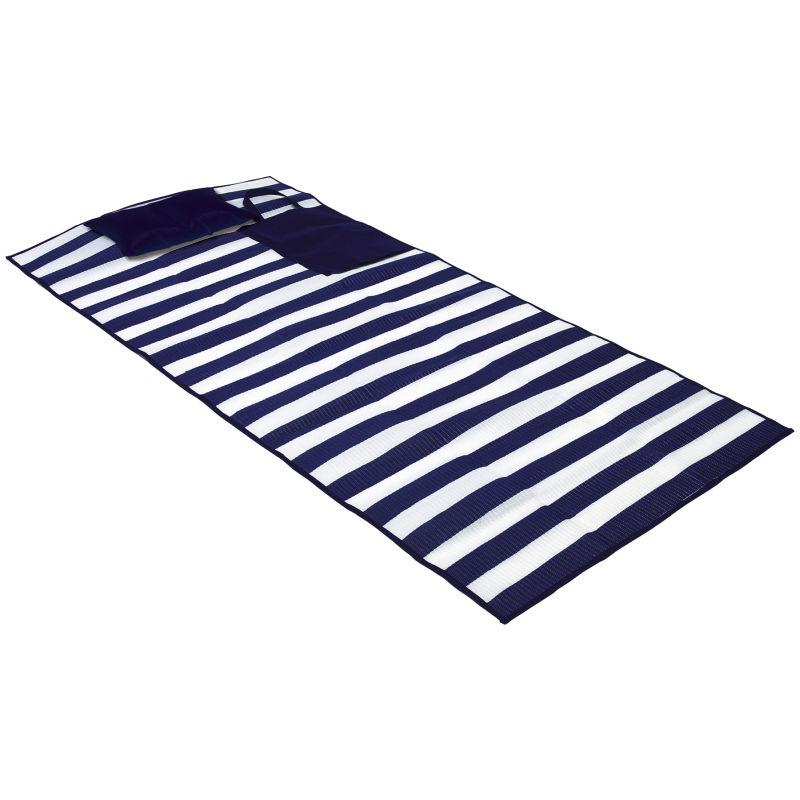 maritime strandmatte marina blau wei bei werbeartikel. Black Bedroom Furniture Sets. Home Design Ideas