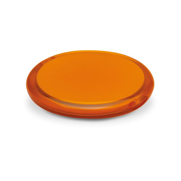make up spiegel radiance transparent orange bei werbeartikel. Black Bedroom Furniture Sets. Home Design Ideas