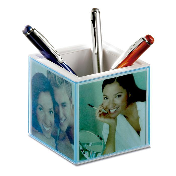 Stifteköcher mit Bilderrahmen Pictorama - transparent blau bei ...
