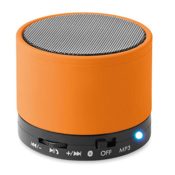 bluetooth lautsprecher rund round bass orange bei. Black Bedroom Furniture Sets. Home Design Ideas