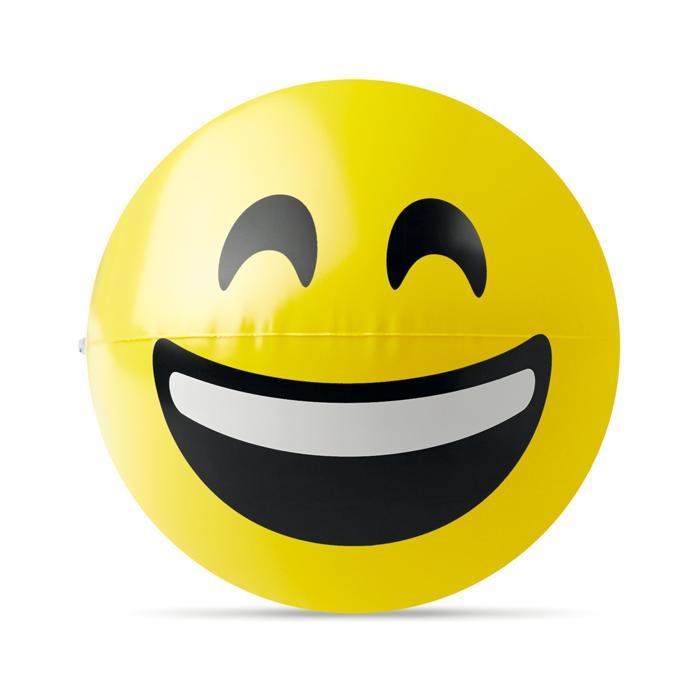 Wasserball Mit Emoji Smily Gelb Bei Werbeartikel Discountcom