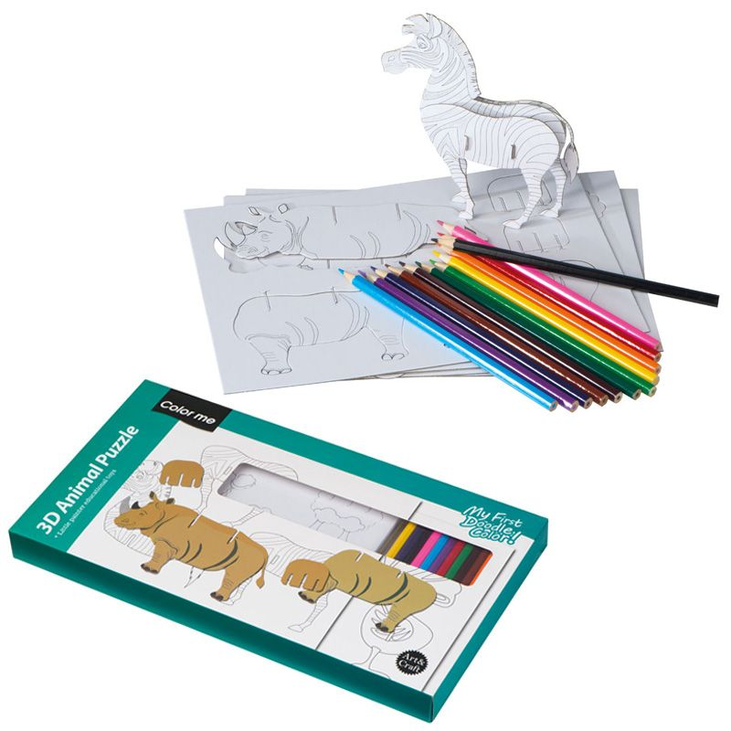 3D Puzzle zum Ausmalen Addison bei werbeartikel-discount.com