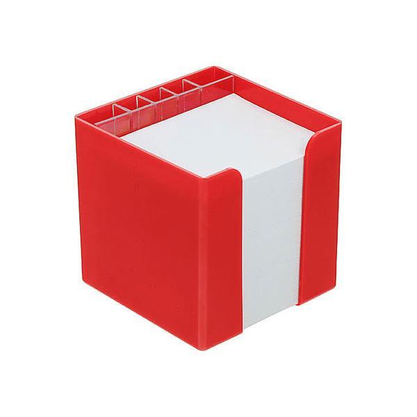 zettelbox mit papier mit k cher rot 347009kpc 1 bei werbeartikel. Black Bedroom Furniture Sets. Home Design Ideas