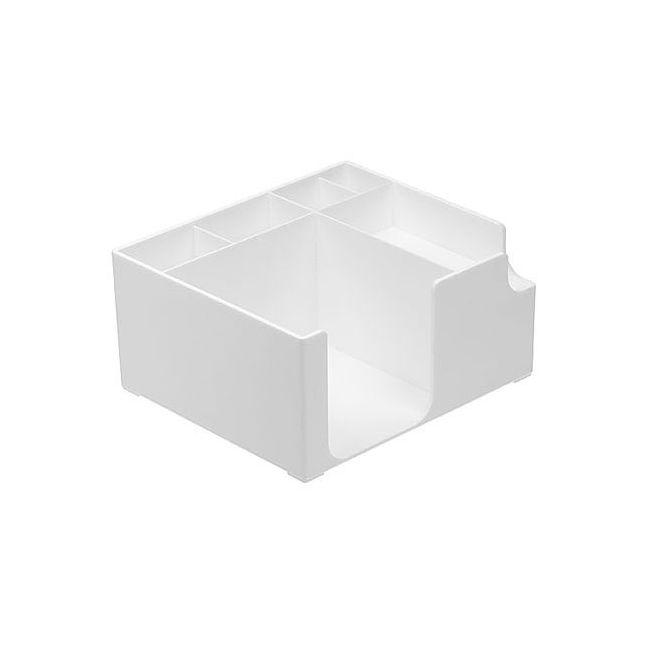 zettelbox ohne papier wei 347027 0 bei werbeartikel. Black Bedroom Furniture Sets. Home Design Ideas
