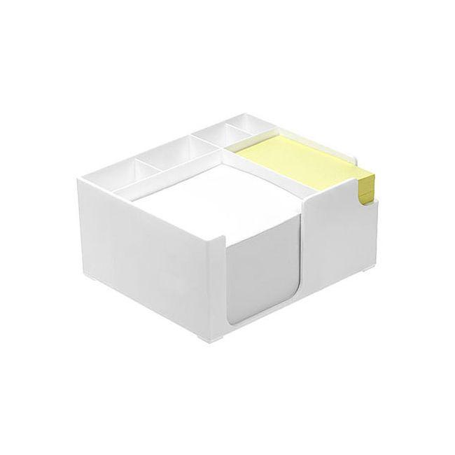 zettelbox mit papier gelbes haftpapier wei bei werbeartikel. Black Bedroom Furniture Sets. Home Design Ideas