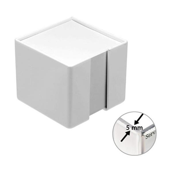 zettelbox dickwandig mit papier wei 347029pc 0 bei werbeartikel. Black Bedroom Furniture Sets. Home Design Ideas