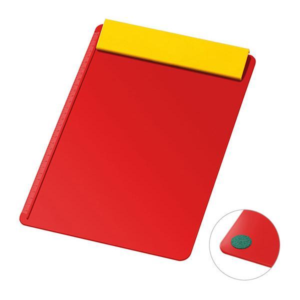 schreibplatte din a4 ohne papier rot gelb bei. Black Bedroom Furniture Sets. Home Design Ideas
