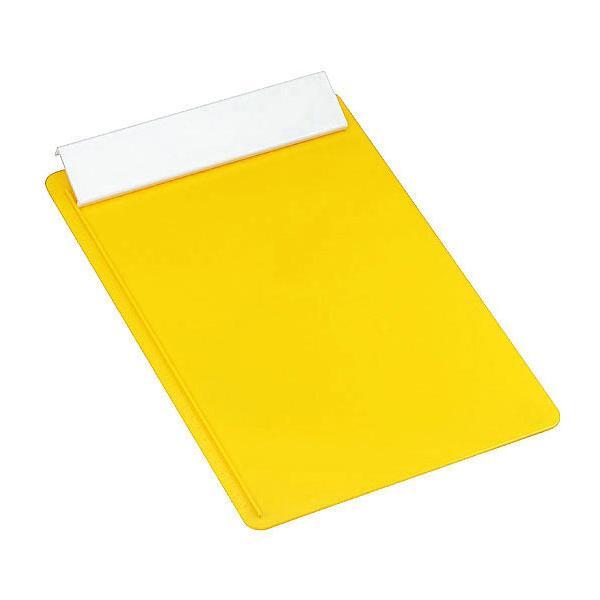schreibplatte din a4 ohne papier gelb wei bei werbeartikel. Black Bedroom Furniture Sets. Home Design Ideas