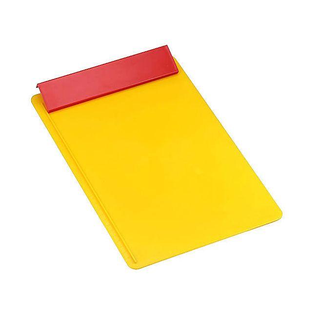 schreibplatte din a4 ohne papier d nnere wandung gelb. Black Bedroom Furniture Sets. Home Design Ideas