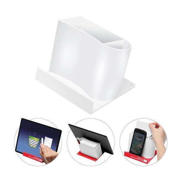 smartphone tabletst nder mit zettelspeicher ohne papier wei wei bei werbeartikel. Black Bedroom Furniture Sets. Home Design Ideas