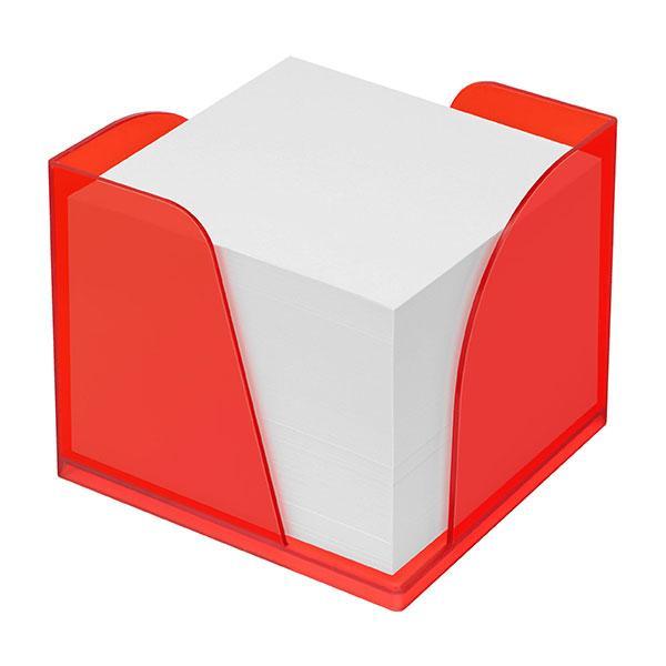 zettelbox mit 2 papierentnahmen mit papier gefrostet rot bei werbeartikel. Black Bedroom Furniture Sets. Home Design Ideas
