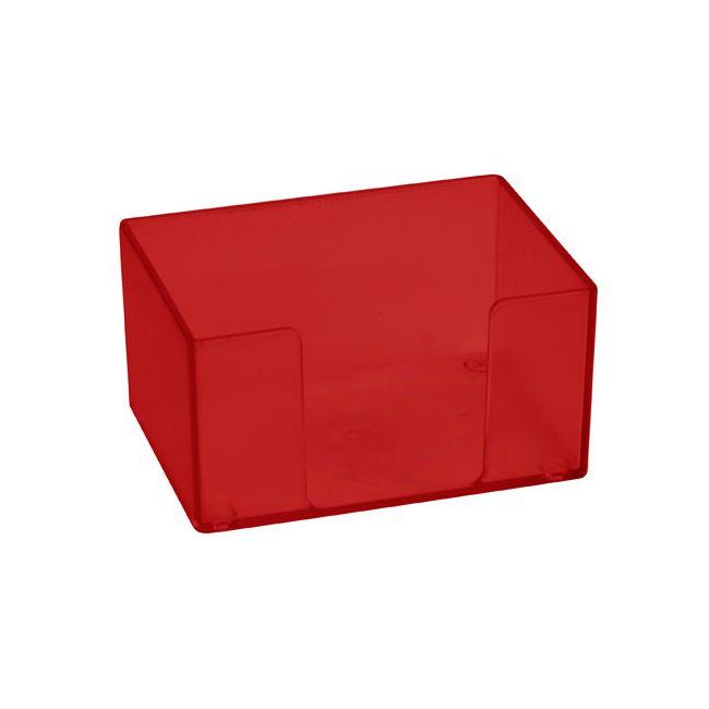 zettelbox ohne papier gefrostet rot bei werbeartikel. Black Bedroom Furniture Sets. Home Design Ideas